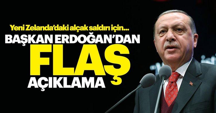 Başkan Erdoğan'dan Yeni Zelanda açıklaması