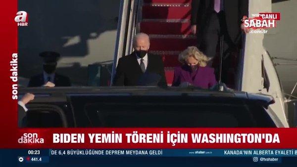 Biden, bugünkü yemin töreni öncesi Washington'a geldi   Video