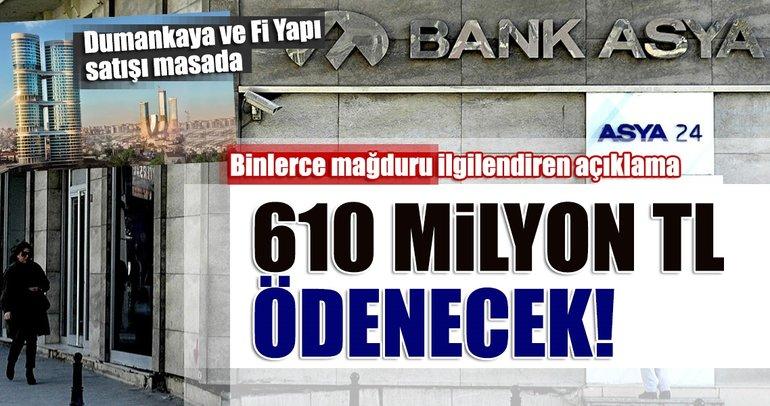 TMSF Başkanı Muhiddin Gülal: Bank Asya'dan TMSF'ye 610 milyon TL ödenecek