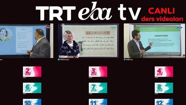 TRT EBA TV izle! (01 Nisan 2020 Çarşamba) Lise, Ortaokul, İlkokul dersleri 'Uzaktan Eğitim' canlı yayın | Video