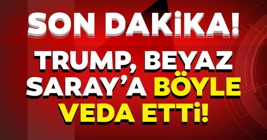 Son Dakika: ABD Başkanı Trump'ın veda zamanı! Helikopteri havalandı!