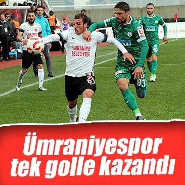 Ümraniyespor, Giresunspor'u tek golle geçti