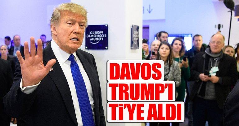Davos Trump'ı ti'ye aldı