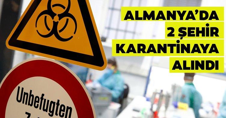 Son dakika: Almanya'da Kovid-19 salgını nedeniyle 2 şehir karantinaya alındı