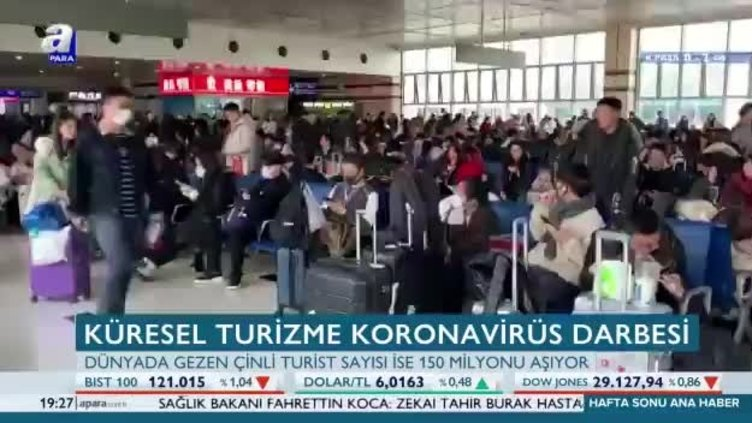 Küresel turizme koronavirüs darbesi
