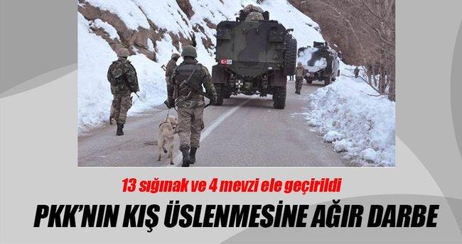 Bingöl'de PKK'nın kış üslenmesine darbe