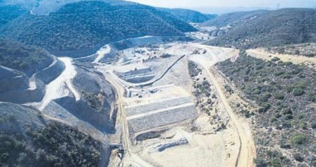 Karaburun'a hayat verecek baraj bitiyor