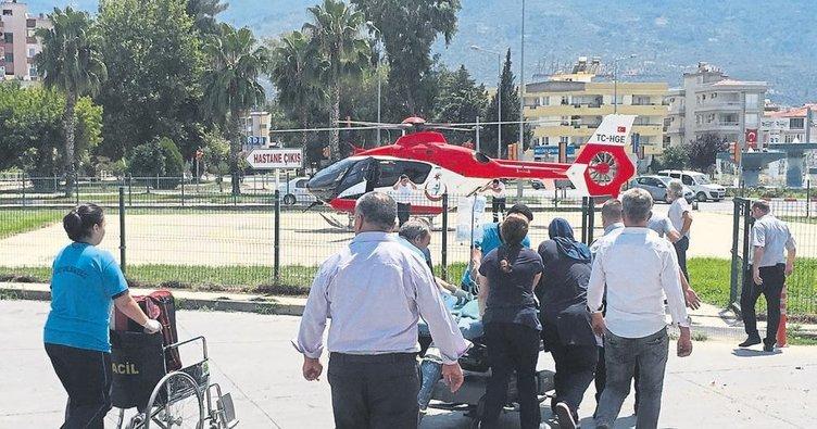 Hava ambulansı Aymira için uçtu
