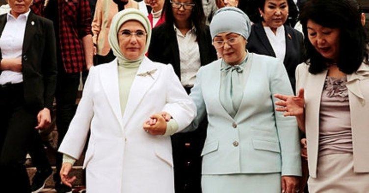 Emine Erdoğan, Cengiz Aytmatov Salonu'nun açılışını yaptı