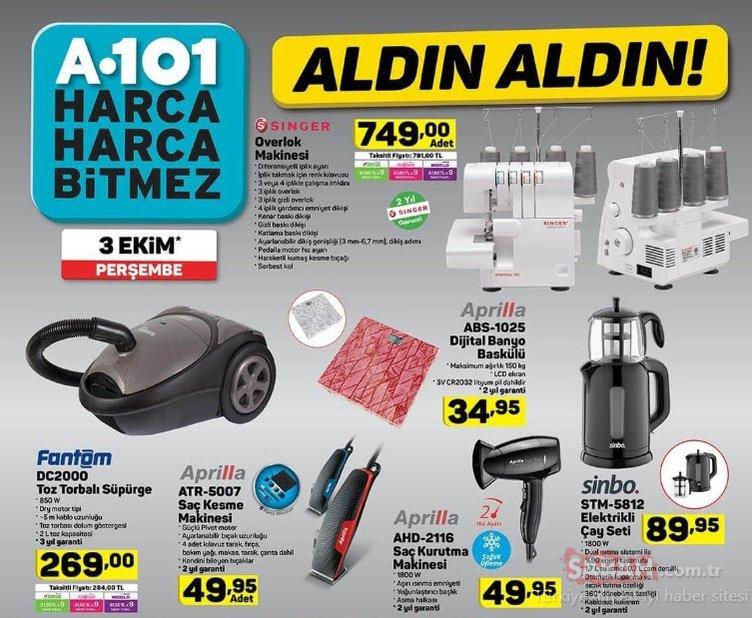 A101 aktüel ürünler kataloğu yayında! A101 3 Ekim Perşembe aktüel kataloğunda dev fırsatlar!
