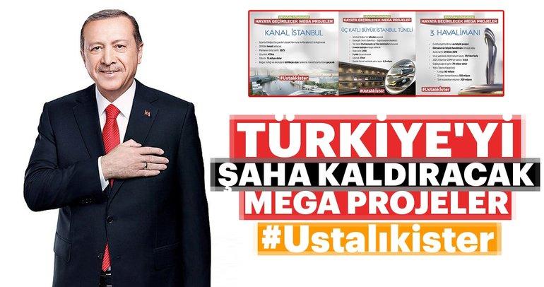 Türkiyeyi şaha kaldıracak mega projeler ustalık ister