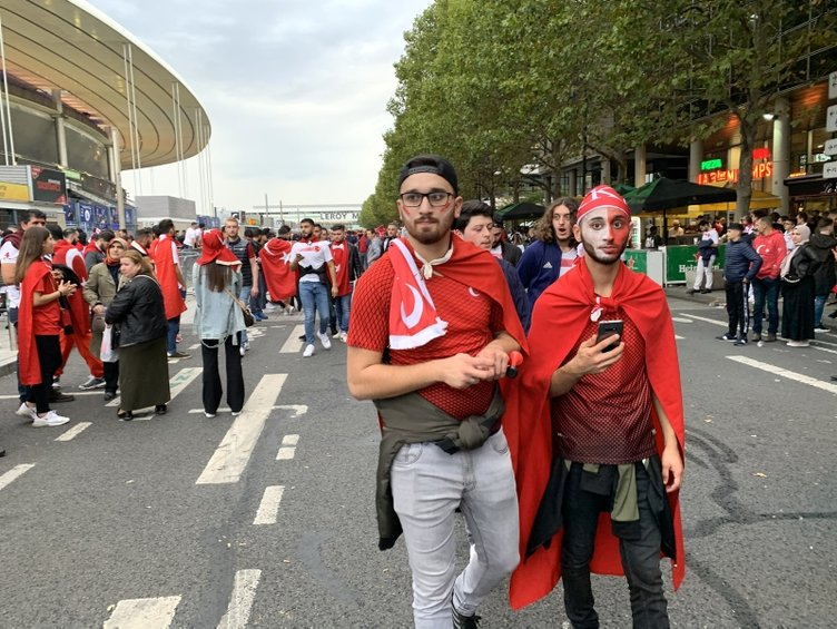 Fransa - Türkiye maçından kareler