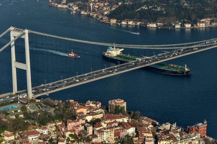 İstanbul'un havadan görüntüsü