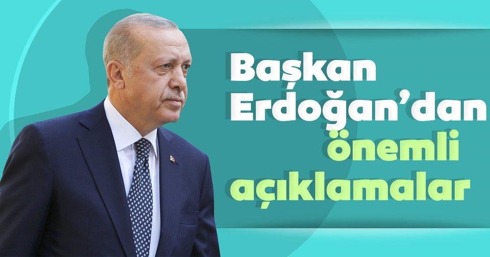 Başkan Recep Tayyip Erdoğan 15 Temmuz'un yıl dönümünde önemli açıklamalarda bulunuyor
