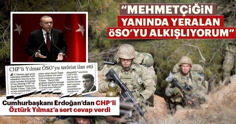 Cumhurbaşkanı Erdoğan'dan CHP'li Öztürk Yılmaz'a sert cevap verdi