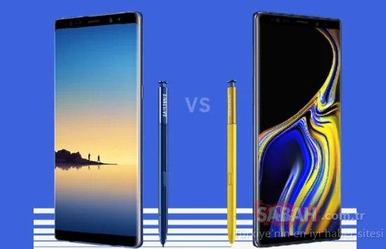 Galaxy Note 9 ile Galaxy Note 8 karşılaştırması (Farkları neler?)
