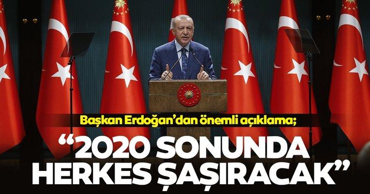 Başkan Erdoğan'dan Ankara'da önemli açıklamalar: 2020 sonunda büyüme rakamlarımız herkesi şaşırtacak