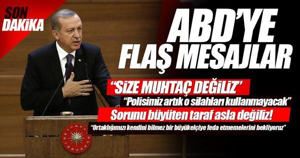 Erdoğan: ABD'nin, ortağını kendini bilmez büyükelçiye feda etmesi kabul edilemez