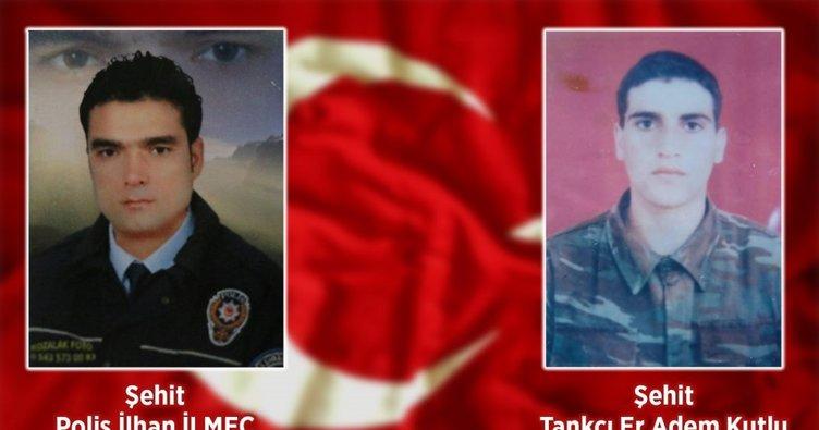 Şehit asker ile polisin isimleri memleketlerinde yaşatılacak