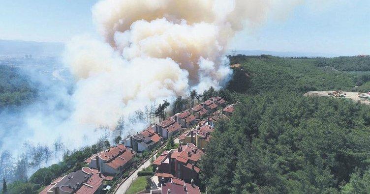 Alevler evleri sardı