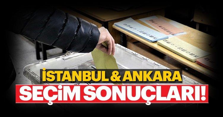 İstanbul ve Ankara seçim sonuçları son durum! 31 Mart yerel seçim sonuçları belli oluyor...
