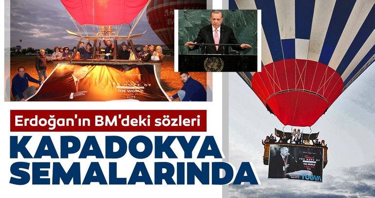 Erdoğanın BMdeki sözleri, Kapadokya semalarında