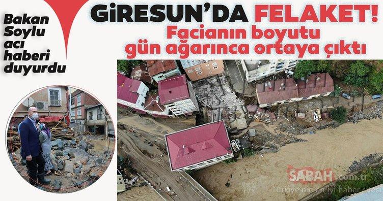 SON DAKİKA   Giresun'da sel felaketi! Bakan Soylu 5 kişinin hayatını kaybettiğini açıkladı! İşte son durum...