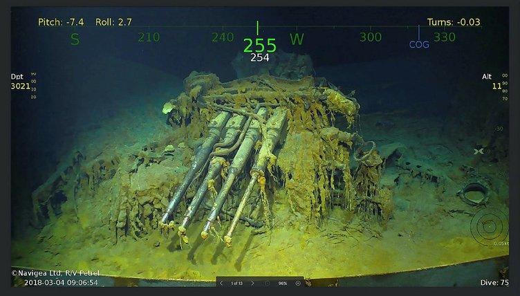 İkinci Dünya Savaşı'nda batırılan geminin enkazı bulundu
