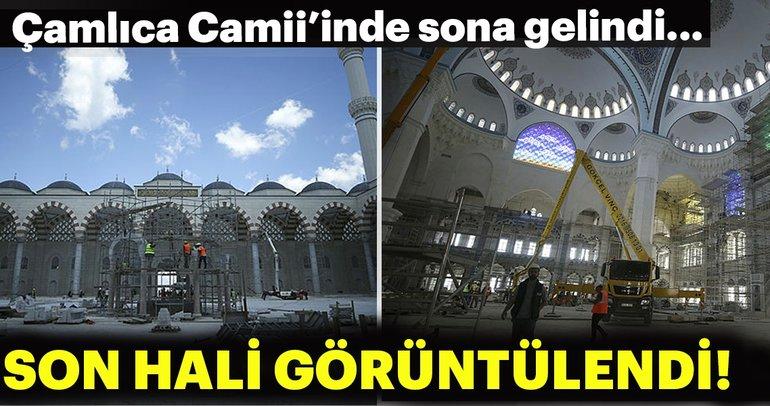 Çamlıca Camii'inde sona gelindi