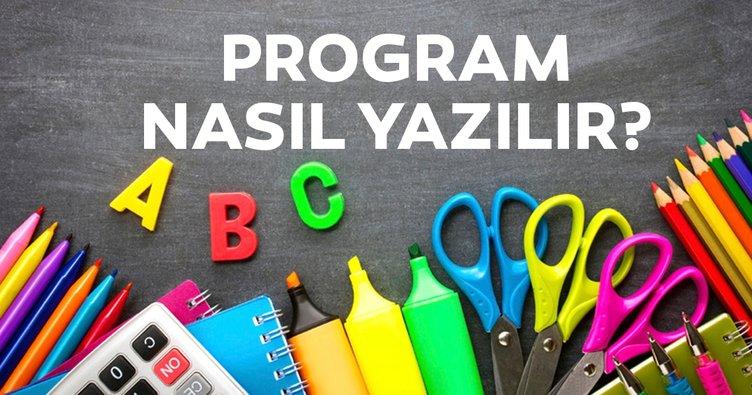 Program nasıl yazılır? TDK'ye göre proğram kelimesi yazılışı!