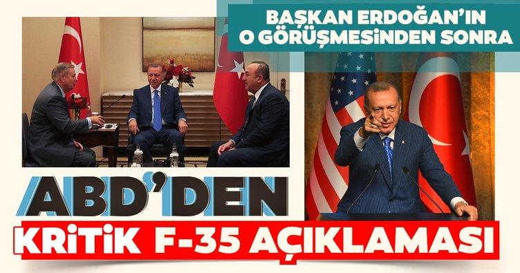 Başkan Erdoğan'la görüşen ABD'li Senatör Graham'dan F-35 açıklaması: Türkiye'yi geri almaya çalışıyoruz