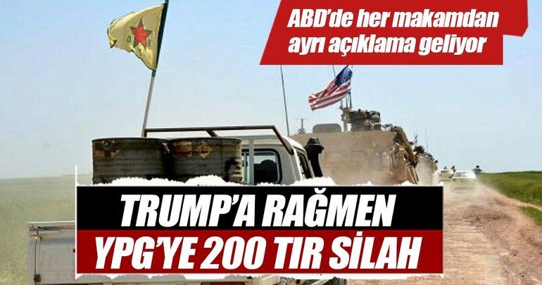 Trump'a rağmen YPG'ye 200 TIR silah