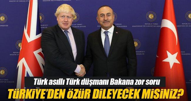 Boris Johnson'a zor soru