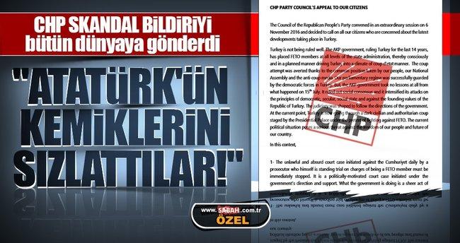 CHP skandal bildiriyi bütün dünyaya gönderdi