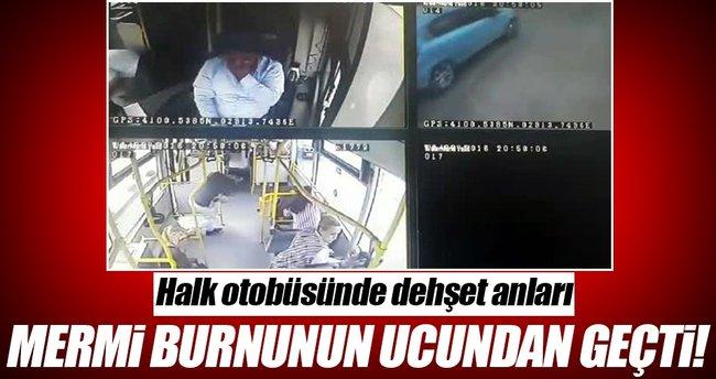İstanbul'da halk otobüsüne silahlı saldırı kamerada