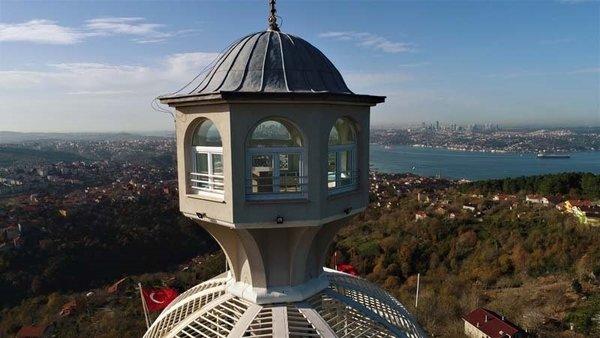 Seyir Teraslı caminin manzarası havadan görüntülendi
