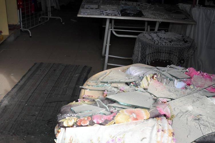 Van'da patlama sonrası görüntüler