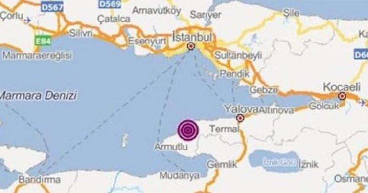 Marmara Denizi'nde 4.0 büyüklüğünde deprem