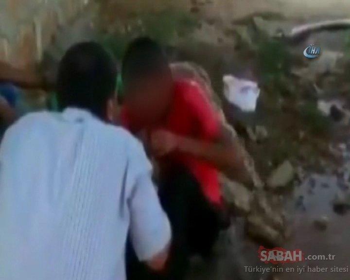 Şanlıurfa'da fıstık çaldığı iddia edilen genci hortumla ıslatıp dövdüler...Sosyal medyaya düşen dayak görüntüleri tepki topladı