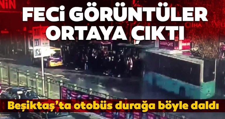 Beşiktaş'ta 1 kişinin öldüğü 12 kişinin yaralandığı otobüs kazasının yeni görüntüleri ortaya çıktı