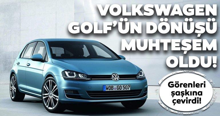 Volkswagen Golf'ün dönüşü muhteşem oldu! Volkswagen Golf'ün son halini görenler gözlerine inanamadı