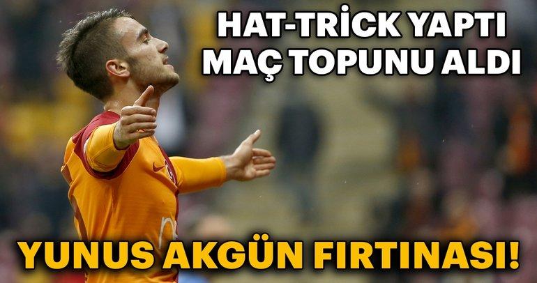 Galatasaray Storm Yunus Akgun! He made a hat-trick, he got the ball.
