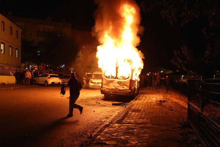Bayburt'ta PKK propagandası iddiası gerginliğe sebep oldu