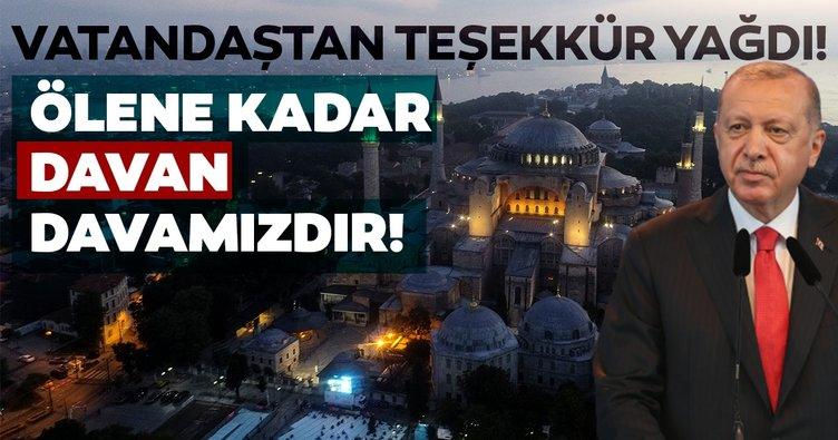 İletişim Başkanı Altun paylaştı! Ayasofya'nın açılışı üzerine vatandaştan CİMER'e teşekkür yağdı