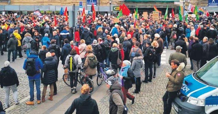 Irkçılara karşı 14 bin kişi