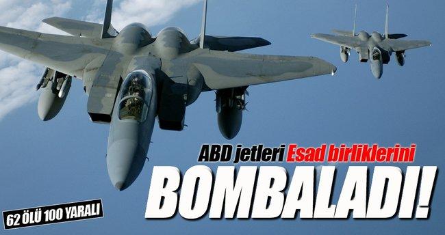 ABD jetleri Esad birliklerini bombaladı!