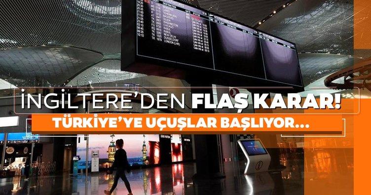 Son dakika: İngiltere'den Türkiye uçuşları ile ilgili flaş karar!
