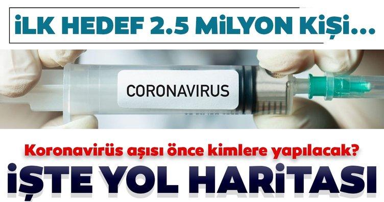 SON DAKİKA: Türkiye'nin koronavirüs aşısında yol haritası belli oldu! İlk hedef 2.5 milyon kişi! Peki kimlere önce yapılacak?