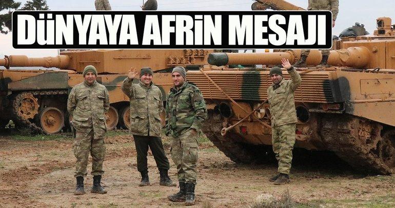 Dünyaya Afrin mesajı