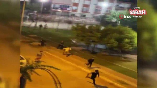 Yeren düşmesine sebep olan motosikleti tekmeledi | Video